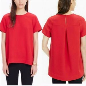 Madewell Tailored Tee In Red Style B6208